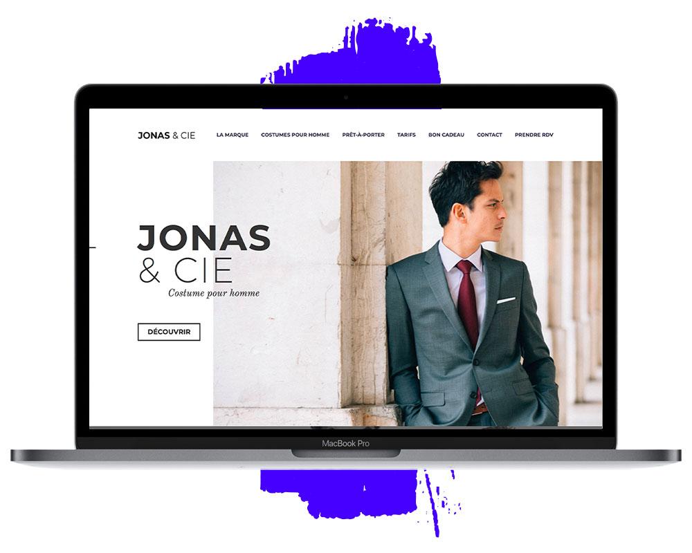 Site vitrine Jonas et cie